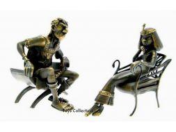 César et Cléopatre en bronze