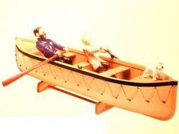 Chaloupe avec Tintin et Haddock #