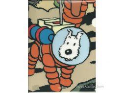 Chemise plastique Milou cosmonaute
