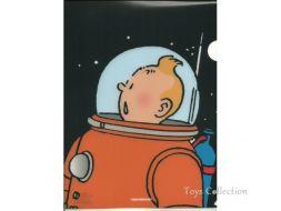 Chemise plastique Tintin cosmonaute