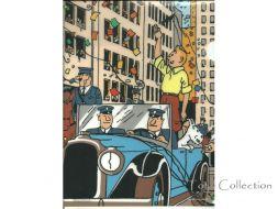 Chemise plastique Tintin en Amérique
