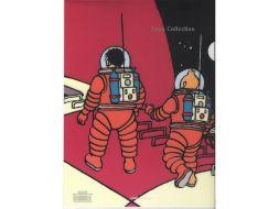 Chemise plastique Tintin et Haddock lune