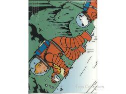 Chemise plastique Tintin et Milou cosmonaute