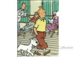 Chemise plastique Tintin et Milou sur le pont