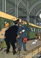 Chemise plastique Tintin Haddock et le chef de gare