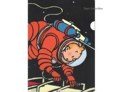 Chemise plastique Tintin lune echelle