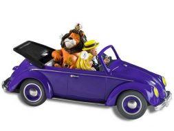 Colombe, Olivier et Majestor dans la Volkswagen