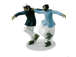 Corto et Raspoutine patineurs