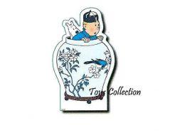 Décor Tintin potiche