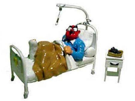Demesmaeker dans son lit d'hôpital