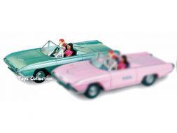 DOTTIE & PINKY  dans la Ford Thunderbird 1963 verte