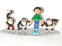 Gaston et les 3 singes