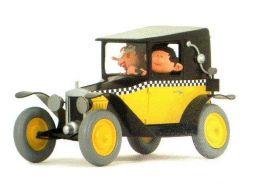 Gaston et Mlle Jeanne en taxi