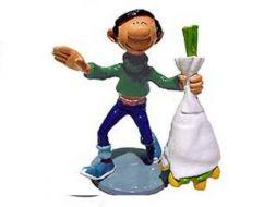 Gaston et son bouquet de fleurs