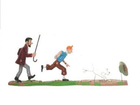Haddock, Tintin et Milou poursuite