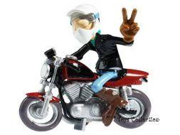 Jéjé et sa Harley