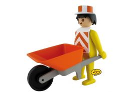 L'ouvrier avec sa brouette, Playmobil