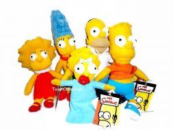 La famille Simpson en peluche