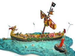 La scéne du bateau pirate