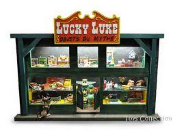 La vitrine des objets du Mythe de Lucky Luke
