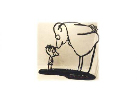 Le Bouillon et le Petit Nicolas en silhouette