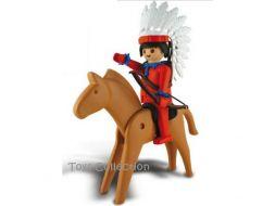 Le Chef Indien sur son cheval Playmobil