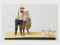 Le pays de la soif; Tintin et Haddock dans le désert