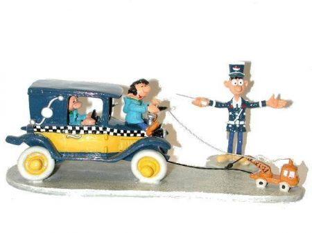 Le taxi de Gaston tiré par la mini dépanneuse