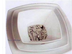 Lot Assiettes et Bol Tintin éléphants