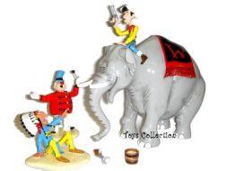 Lucky Luke sur l'éléphant du Western Circus