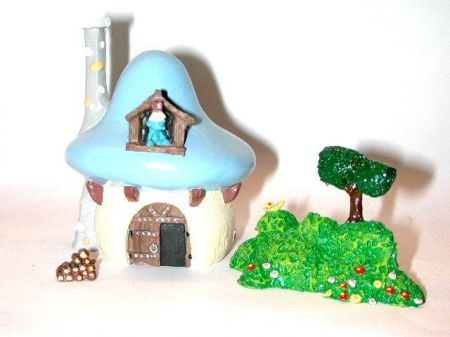 Maison du schtroumpf bricoleur figurine pixi mini r sine - Schtroumpf bricoleur ...