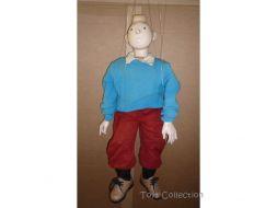 Marionnette Tintin pull bleu #