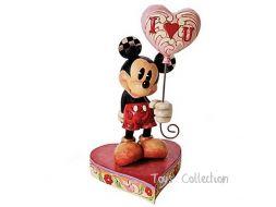 Mickey avec un ballon coeur