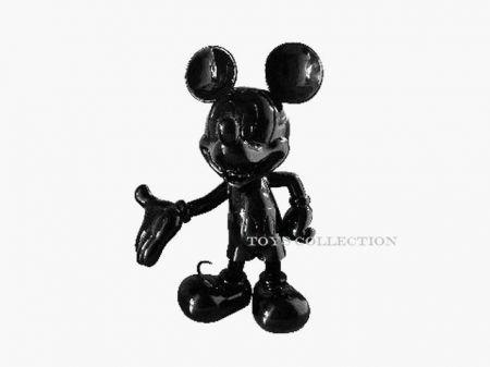 Mickey welcome noir laqué