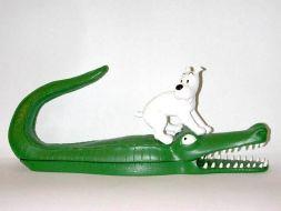 Milou sur le crocodile #