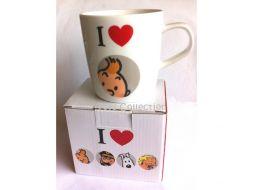 Mug I love Tintin