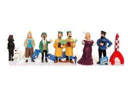 Série compléte des 9 figurines Tintin