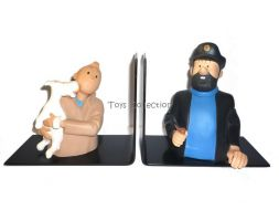 Serre livres Tintin et Haddock #
