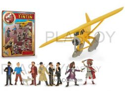 Set 9 figurines et l'hydravion