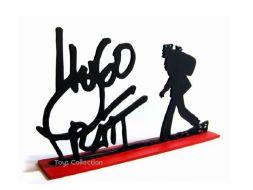 Signature Hugo Pratt avec Corto en silhouette