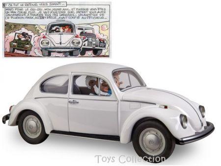 Spirou dans la Volkswagen Coccinelle