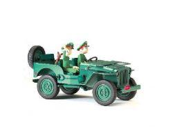 Spirou et Fantasio dans la Jeep