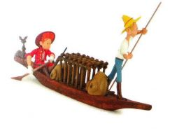 Spirou et Fantasio dans la pirogue #