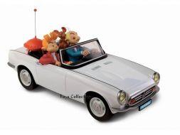 Spirou et Fantasio dans leur cabriolet Honda S800