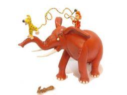 Spirou, spip et Marsupilami sur l'éléphant