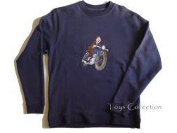 Sweet shirt Tintin a moto S