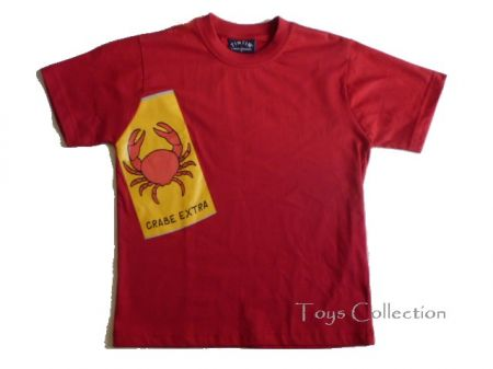 Tee shirt tintin crabe S