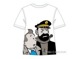 Tee shirt Tintin et Haddock  12 ans