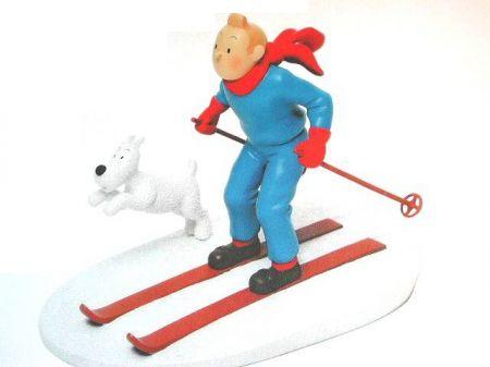 Tintin à skis