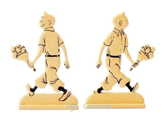 Figurine Métal Tintin bouquet de fleurs MOULINSART